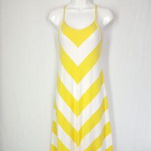 GAP Dresses - Gap maxi dress, symmetric, size XS, yellow & white